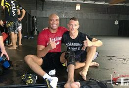 With Anderson Silva