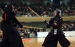 Kendoka in action