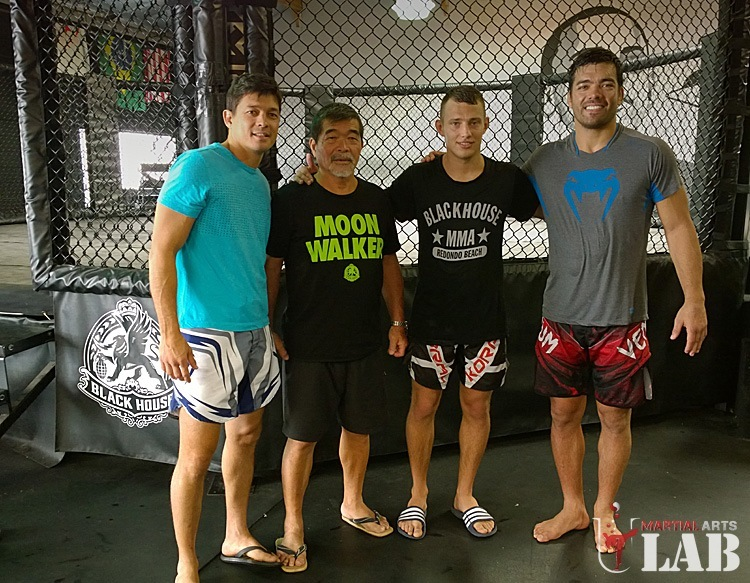With Chinzo Machida, Yoshizo Machida & Lyoto Machida