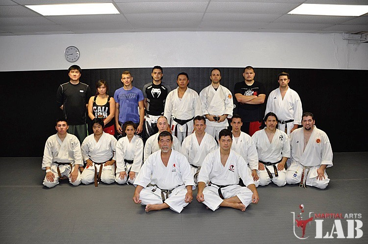 Karate class with Yoshizo & Chinzo Machida